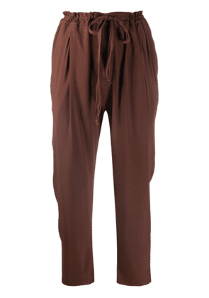Kristensen Du Nord high-rise cropped trousers - Brown