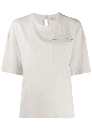 Brunello Cucinelli chest pocket blouse - NEUTRALS