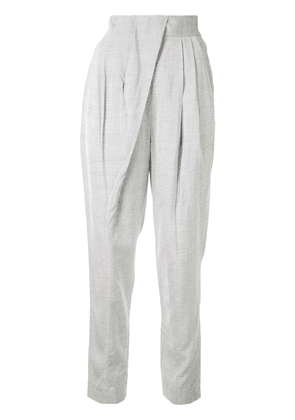 Proenza Schouler tapered pleated trousers - Grey