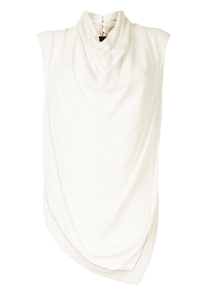 Proenza Schouler cowl-neck sleeveless blouse - White
