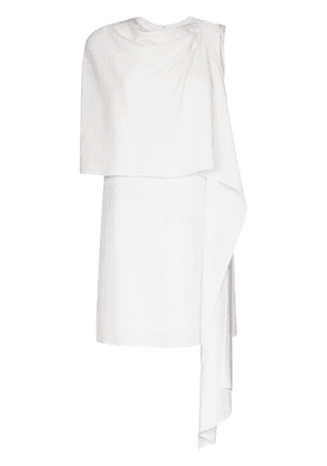 Oscar de la Renta draped wool mini dress - White