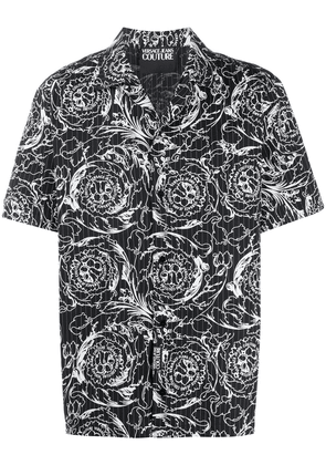 Versace Jeans Couture printed short-sleeved shirt - Black