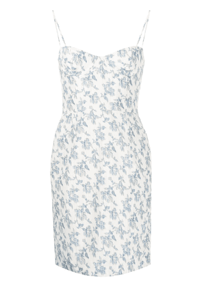 Brock Collection floral mini dress - NEUTRALS