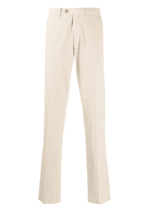 Canali straight-fit tailored trousers - NEUTRALS