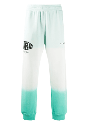 Givenchy Studio Homme faded-effect track pants - Green