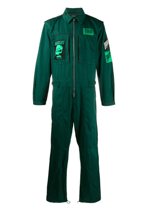 Diesel patchwork jumpsuit - Green