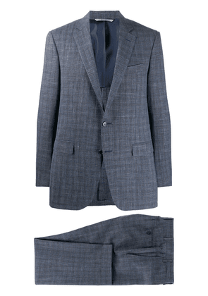 Canali checked two-piece suit - Blue