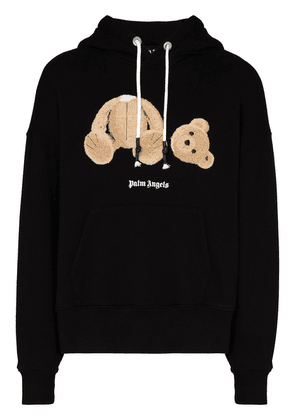 Palm Angels Bear print hoodie - Black
