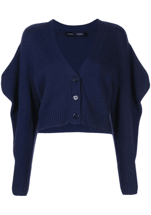 Proenza Schouler draped sleeve cropped cardigan - Blue