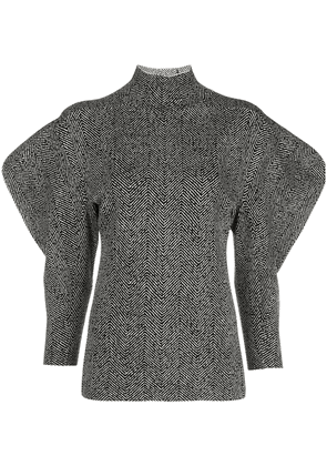 Proenza Schouler structured shoulders herringbone jumper - Black