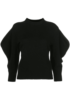Proenza Schouler cashmere draped sleeve jumper - Black