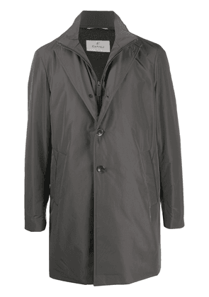Canali single-breasted trench coat - Grey