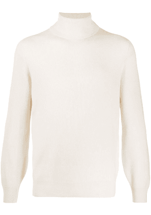Brunello Cucinelli roll neck jumper - NEUTRALS