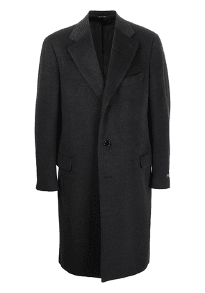 Canali single-breasted wool coat - Grey