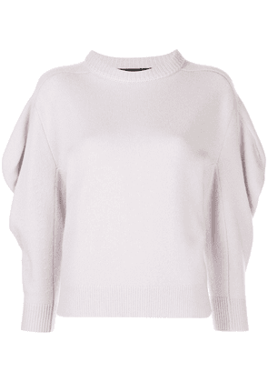 Proenza Schouler draped sleeve knitted jumper - PURPLE