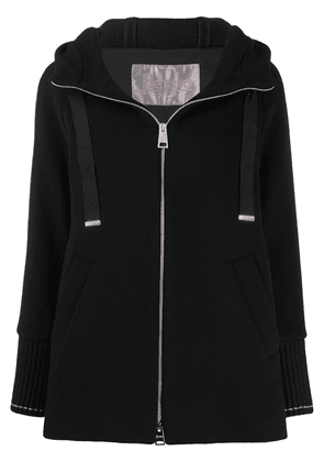 Herno knitted zipped hooded jacket - Black