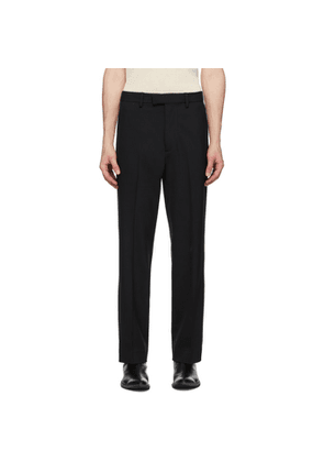 Second/Layer Black Tailored Bootcut Trousers