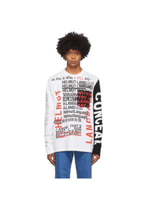 Helmut Lang White Willie Norris Edition Long Sleeve T-Shirt