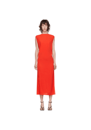 Helmut Lang Red Back Twist Dress