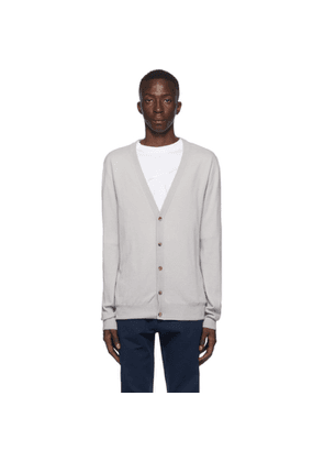 Maison Margiela Grey Wool Elbow Patch Cardigan