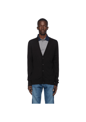 Maison Margiela Black Wool Elbow Patch Cardigan