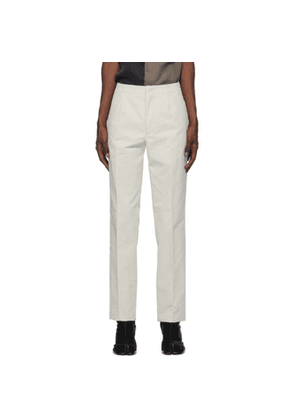 Maison Margiela Off-White Corduroy Trousers
