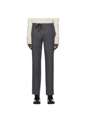 Maison Margiela Grey Wool Casual Trousers
