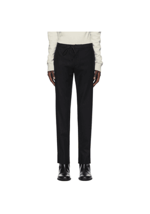 Maison Margiela Black Wool Flannel Trousers