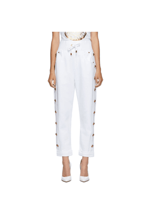 Balmain White Boyfriend Lounge Pants