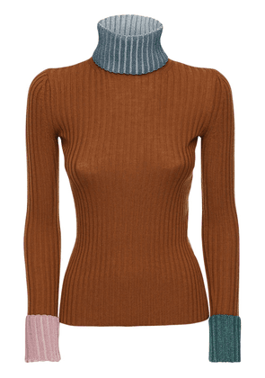 Virgin Wool Blend Knit Sweater