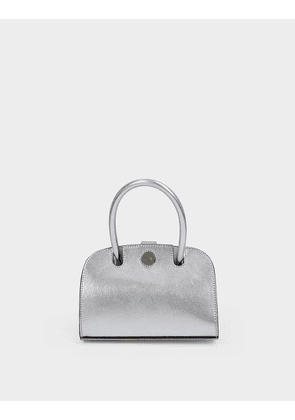 Ladybird Bag in Silver Leather