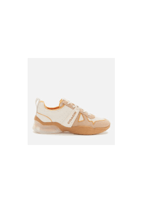 Coach Women's Citysole Leather/Terrycloth Running Style Trainers - Chalk/Tumeric - UK 3