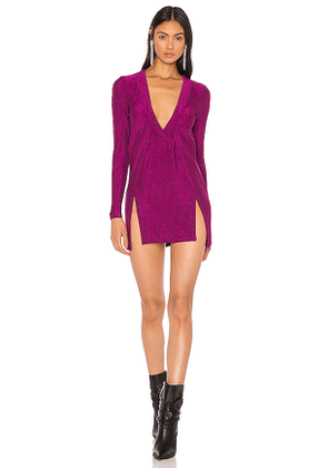 superdown x Draya Michele Mellie Dual Slit Mini Dress in Purple. Size S.
