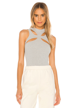superdown Grayson Cut Out Top in Light Grey. Size XL,XS.