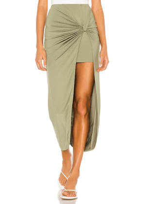 superdown Marie Midi Skirt in Green. Size XXS.