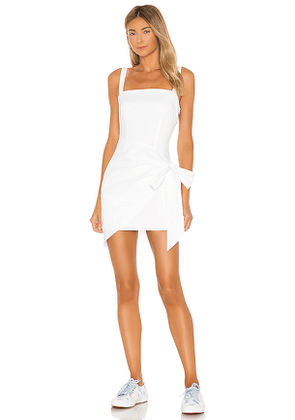 superdown Macie Wrap Mini Dress in White. Size M,XS,XXS.