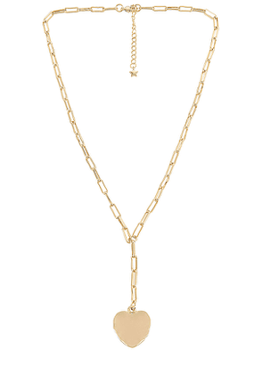 Five and Two Tinley Necklace in Metallic Gold.