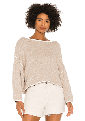 Free People Bardot Sweater in Taupe. Size M,S,XS.