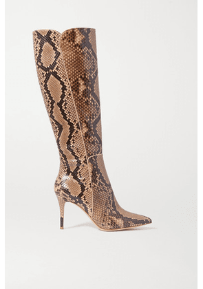 Gianvito Rossi - 85 Python Knee Boots - Snake print