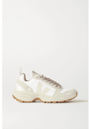 Rick Owens - + Veja Vegan Leather And Suede Sneakers - White