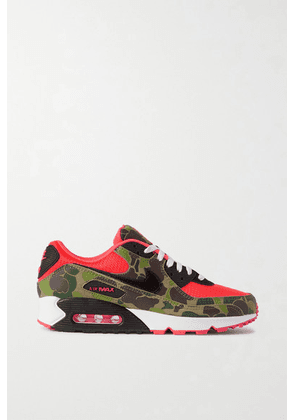 Nike - Air Max 90 Printed Leather And Mesh Sneakers - Red
