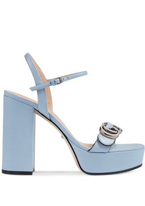 Gucci 115mm block heel sandals - Blue