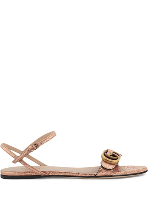 Gucci Double G flat sandals - PINK