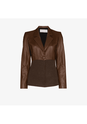 Michael Lo Sordo knitted leather jacket