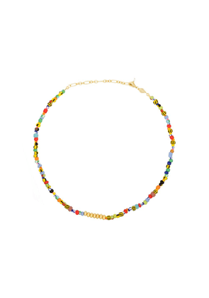 Anni Lu 18kt gold-plated Alaia beaded necklace - Yellow
