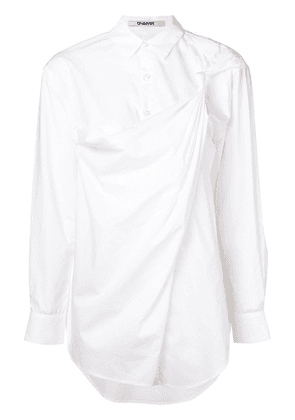 Chalayan knot shoulder shirt - White