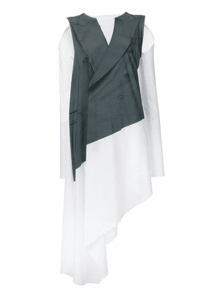 MM6 Maison Margiela jacket layered dress - White