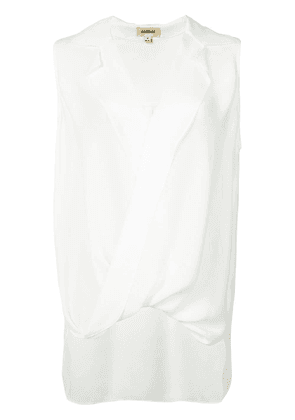 L'Agence v-neck sleeveless blouse - White
