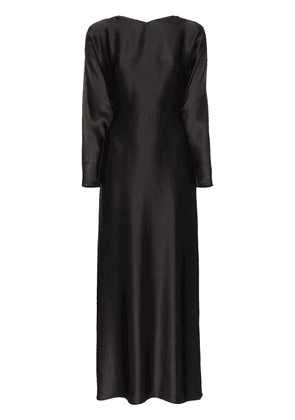 Deitas Demeter silk maxi dress - Black