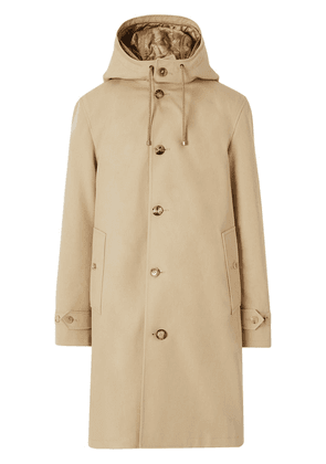 Burberry hooded trench coat - NEUTRALS